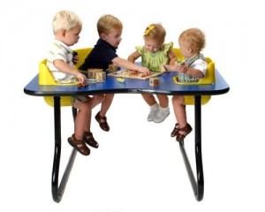 4-Seat Toddler Table