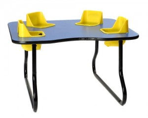 Space Saver 4-Seat Toddler Table