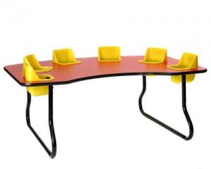 6-Seat Toddler Table