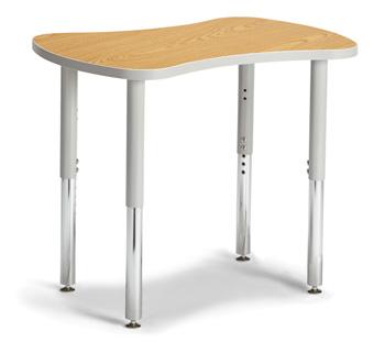 "6310JCS211 - Berries® Collaborative Bowtie Table - 24"" X 35"" - Oak/Gray"