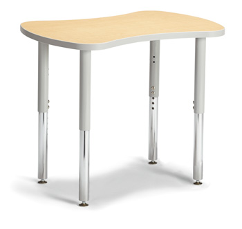 "6310JCS410 - Berries® Collaborative Bowtie Table - 24"" X 35"" - Maple/Gray"