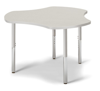 "6311JCS000 - Berries® Collaborative Hub Table - 44"" X 47"" - Gray/Gray"