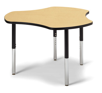 "6311JCS011 - Berries® Collaborative Hub Table - 44"" X 47"" - Maple/Black"