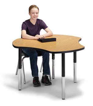 """6311JCS210 - Berries® Collaborative Hub Table - 44"""" X 47"""" - Oak/Black"""