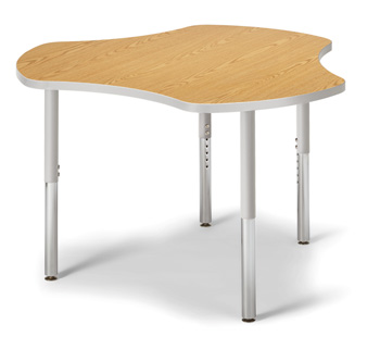 "6311JCS211 - Berries® Collaborative Hub Table - 44"" X 47"" - Oak/Gray"