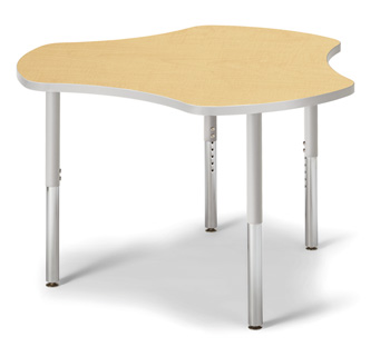 "6311JCS410 - Berries® Collaborative Hub Table - 44"" X 47"" - Maple/Gray"
