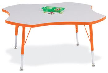 "6453JCE114 - Berries® Four Leaf Activity Table - 48"""