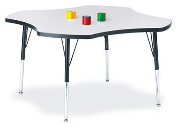 "6453JCE180 - Berries® Four Leaf Activity Table - 48"""
