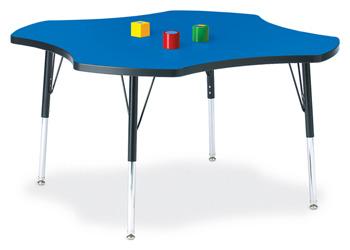 "6453JCE183 - Berries® Four Leaf Activity Table - 48"""