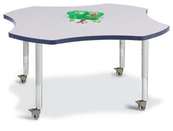 """6453JCM112 - Berries® Four Leaf Activity Table - 48"""""""