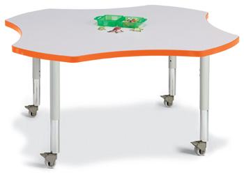 """6453JCM114 - Berries® Four Leaf Activity Table - 48"""""""