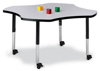 """6453JCM180 - Berries® Four Leaf Activity Table - 48"""""""