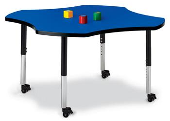 """6453JCM183 - Berries® Four Leaf Activity Table - 48"""""""
