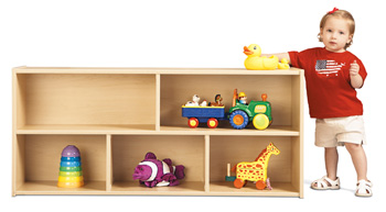 7045YT441 - Young Time® Toddler Two Shelf Storage